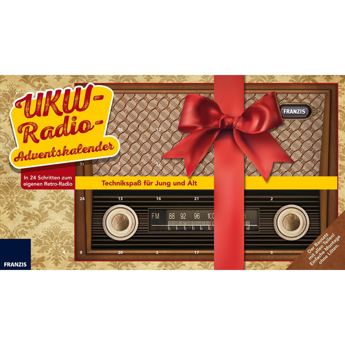 DIY Adventskalender Retro Radio