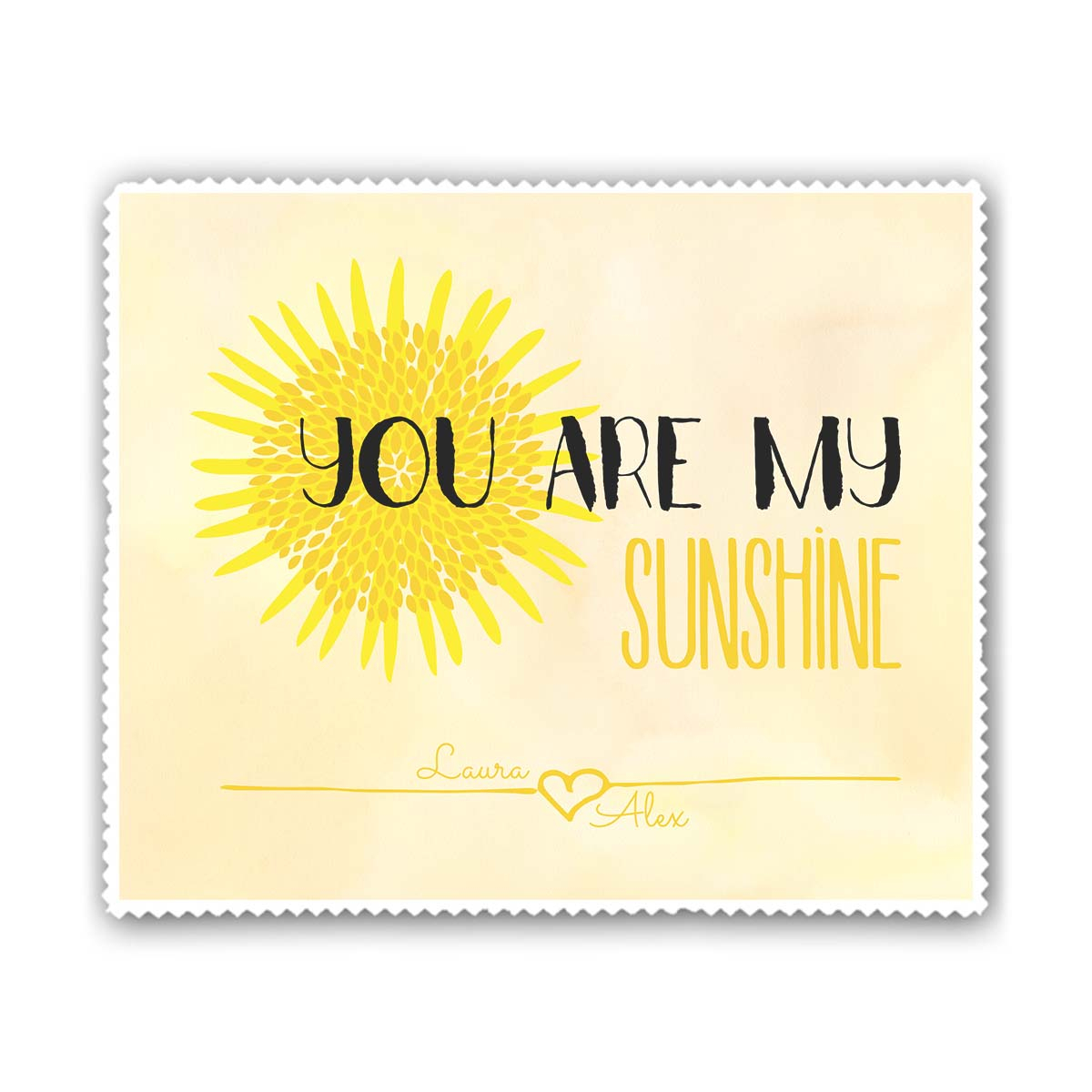 Personalisierbares Brillenputztuch You Are My Sunshine