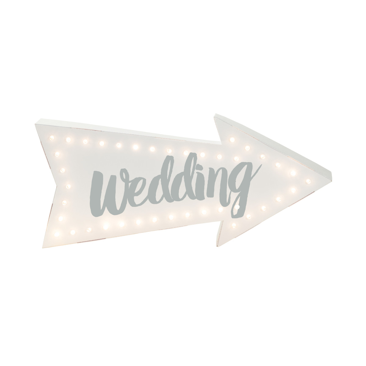 LED Schild Wedding