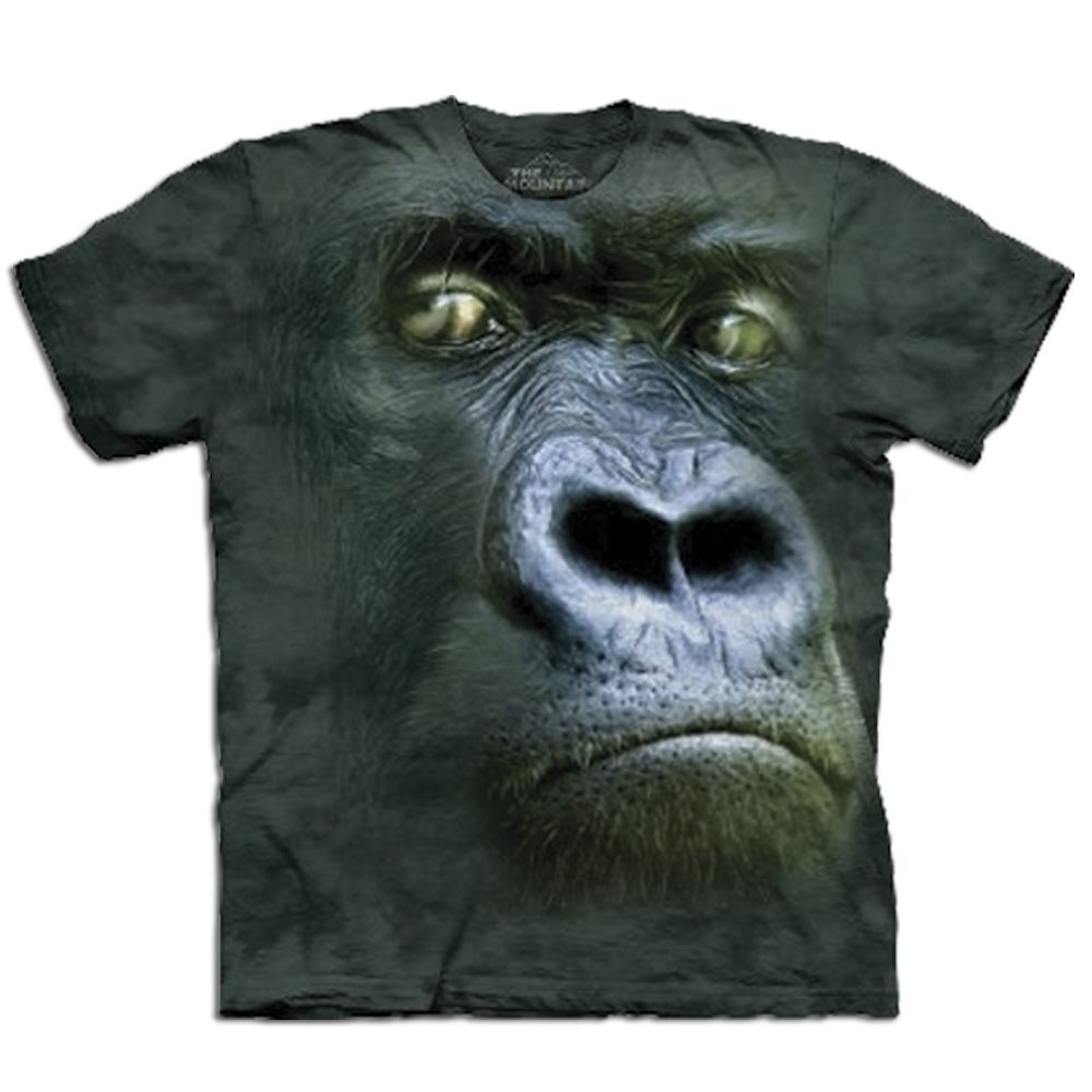 T Shirt Big Face Gorilla