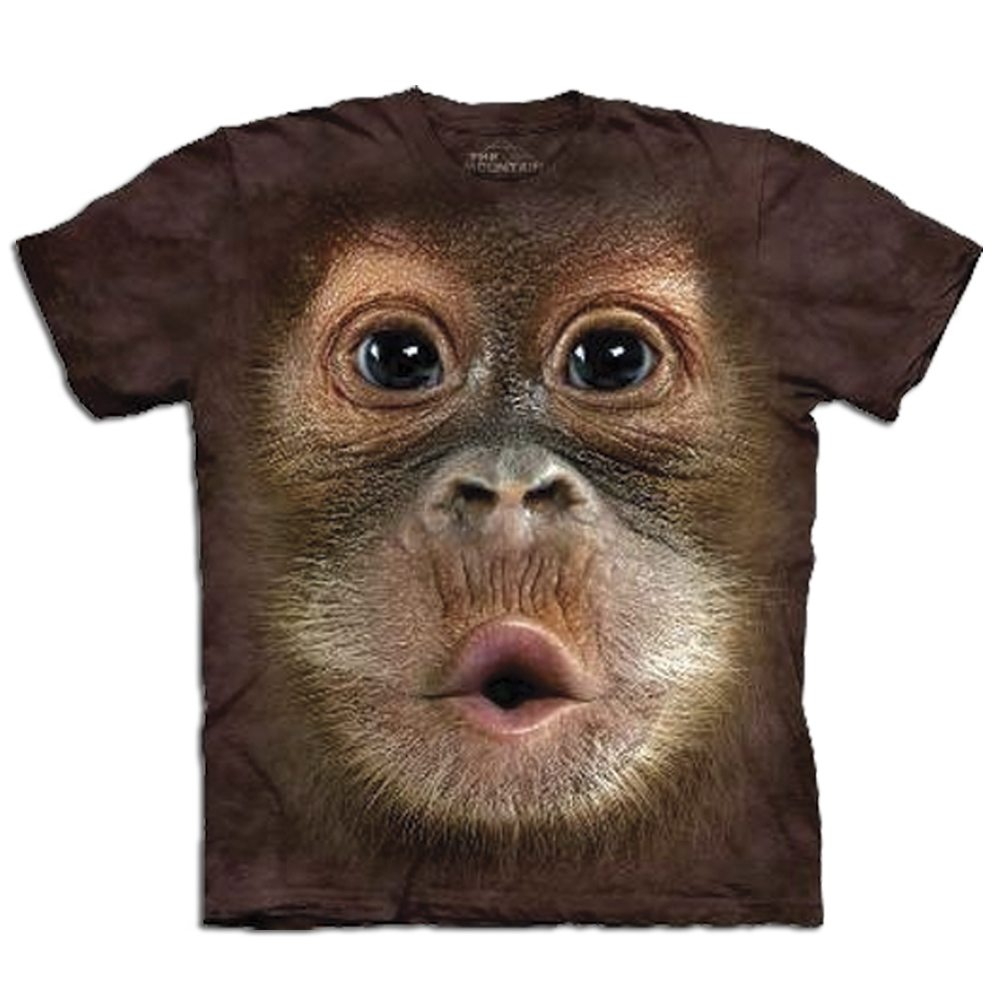 T Shirt Big Face Orang Utan